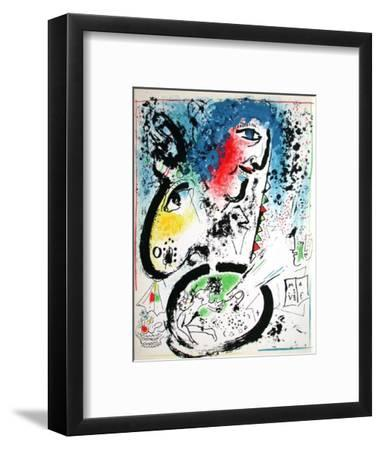 Chagall Autoportrait-Marc Chagall-Framed Premium Edition