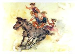 Bombrick Rider by Chaim Gross