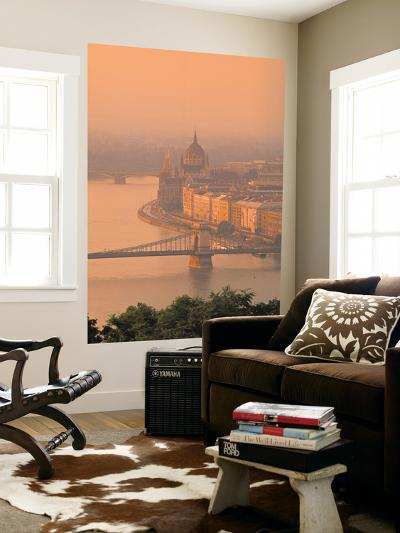 Chain Bridge and Danube River, Budapest, Hungary-Jon Arnold-Giant Art Print