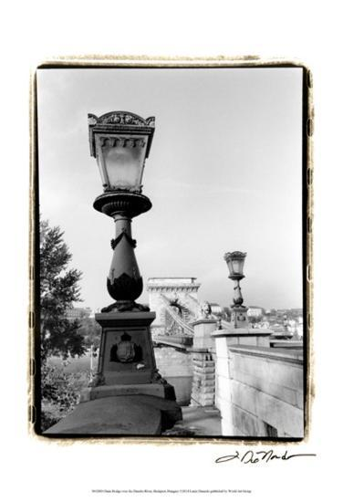 Chain Bridge over the Danube River-Laura Denardo-Art Print