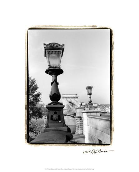 Chain Bridge over the Danube River-Laura Denardo-Premium Giclee Print