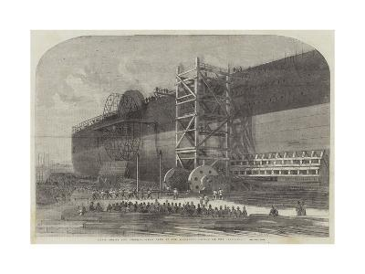 Chain-Drums and Checking-Gear Used at the Attempted Launch of the Leviathan-Edwin Weedon-Giclee Print