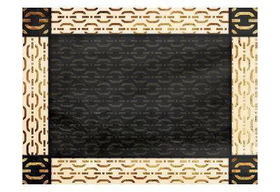 Chain Link Bordered-Jace Grey-Art Print