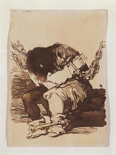Chained Prisoner, Seated-Suzanne Valadon-Art Print