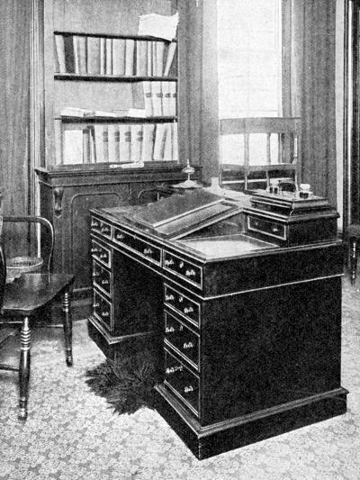 Chair and Desk of Charles Dickens, Used at Gadshill, 1923--Giclee Print