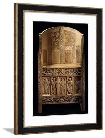 Chair of Bishop Maximian, Inlaid Wood and Ivory Paleochristian Sculpture, from Ravenna, Italy--Framed Giclee Print