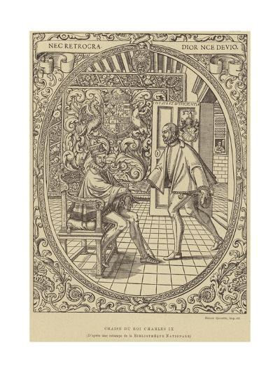 Chair of King Charles IX of France, 16th Century--Giclee Print