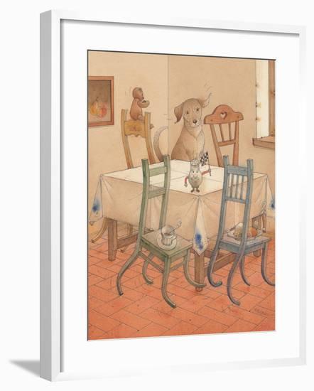 Chair Race, 2005-Kestutis Kasparavicius-Framed Giclee Print