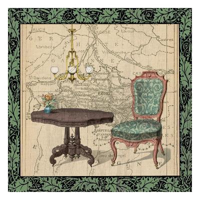 Chair Vignette 1-Tina Carlson-Art Print