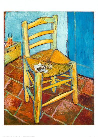 Chair with Pipe-Vincent van Gogh-Art Print