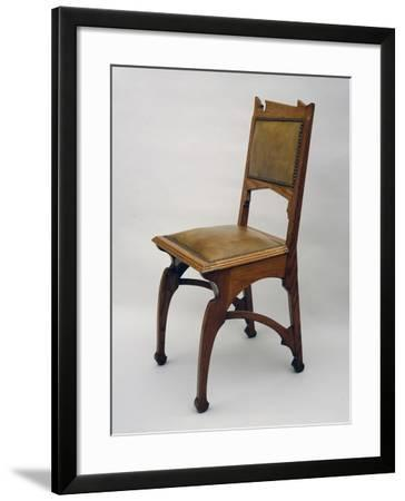 Chair with Upholstered Seat and Back--Framed Giclee Print