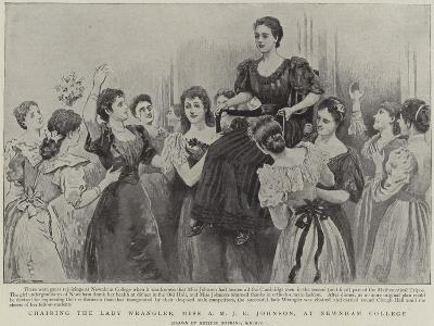 Chairing the Lady Wrangler, Miss a M J E Johnson, at Newnham College, Cambridge-Arthur Hopkins-Giclee Print