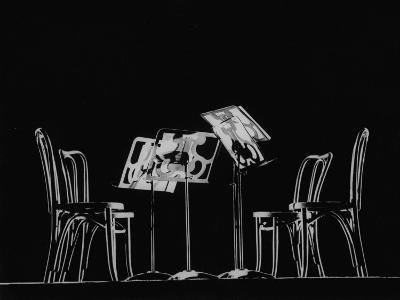 Chairs and Music Stands For the Budapest String Quartet-Gjon Mili-Photographic Print