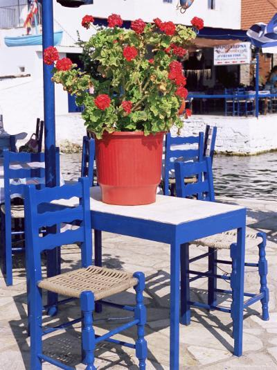 Chairs and Table, Agia Kyriaki, Pelion, Greece-R H Productions-Photographic Print