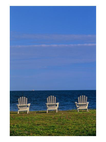 Chairs by the Ocean I-Mike Grandmaison-Art Print
