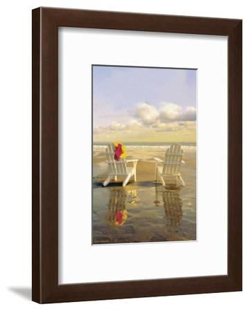 Chairs on the Beach-Carlos Casamayor-Framed Art Print