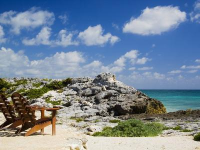 Chairs Overlooking the Caribbean Sea, Tulum, Quintana Roo, Mexico-Julie Eggers-Photographic Print
