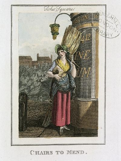 Chairs to Mend, Cries of London, 1804-William Marshall Craig-Giclee Print