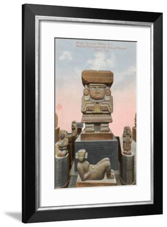 Chalchiutlicue Statue, National Museum, Mexico City--Framed Art Print