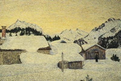 Chalets in Snow-Giovanni Segantini-Giclee Print