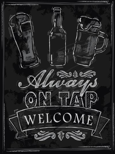 Chalk Beer-bioraven-Art Print