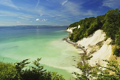 Chalk Cliffs, Jasmund National Park, Ruegen Island, Mecklenburg-Vorpommern, Germany, Europe-Jochen Schlenker-Photographic Print