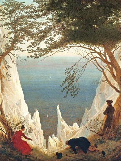 Chalk Cliffs on Rugen, C.1818-Caspar David Friedrich-Giclee Print