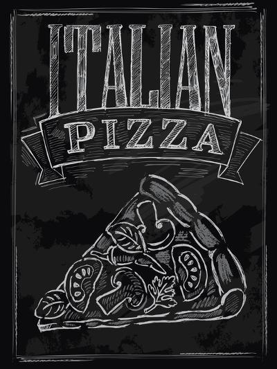 Chalk Pizza-bioraven-Art Print