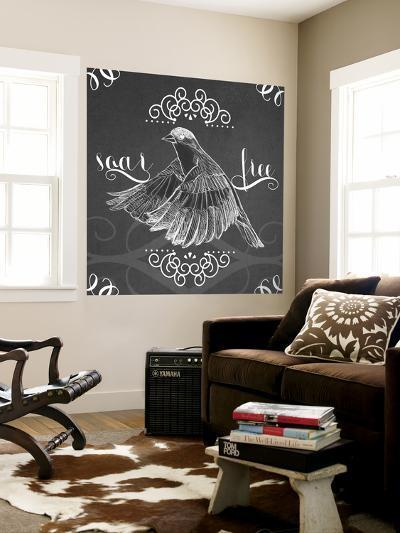 Chalkboard Bird II-June Erica Vess-Wall Mural