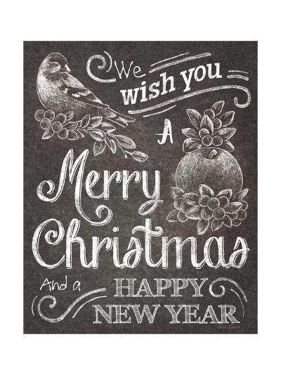 Chalkboard Christmas Sayings I-Beth Grove-Art Print