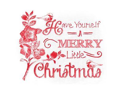 Chalkboard Christmas Sayings V on white-Beth Grove-Art Print