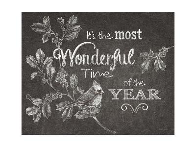 Chalkboard Christmas Sayings VI-Beth Grove-Art Print