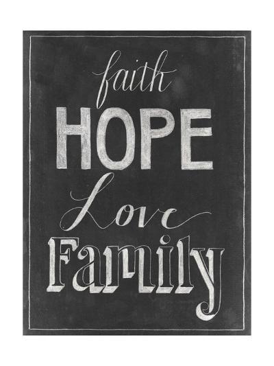 Chalkboard Faith I-Grace Popp-Art Print