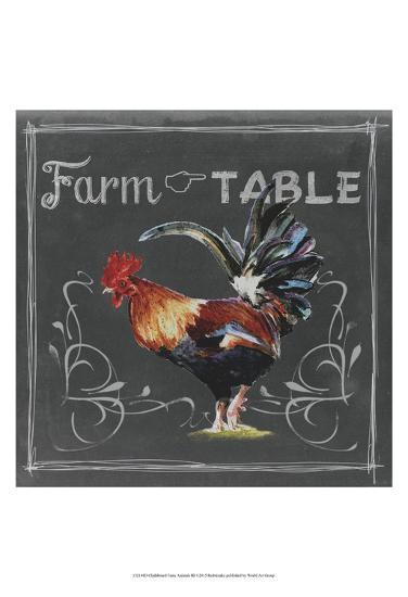 Chalkboard Farm Animals III-Redstreake-Art Print