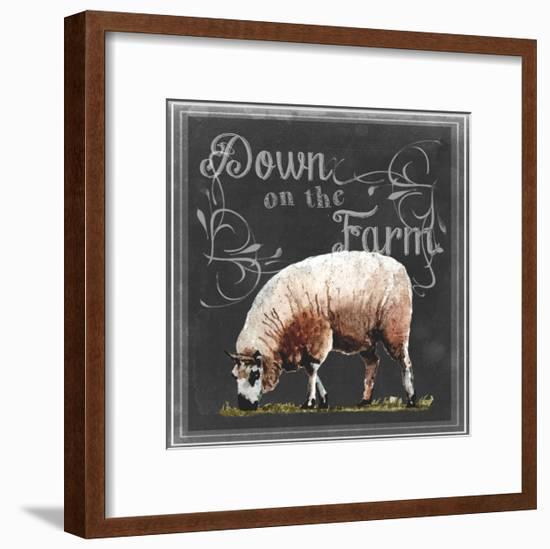 Chalkboard Farm Animals IV-Redstreake-Framed Art Print