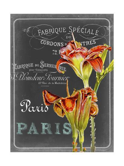 Chalkboard Fleurs II-Redstreake-Art Print