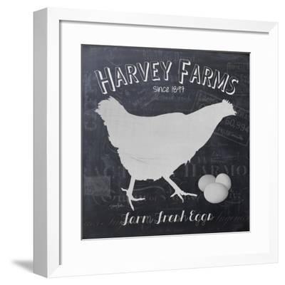 Chalkboard Hen-Stimson, Diane Stimson-Framed Art Print