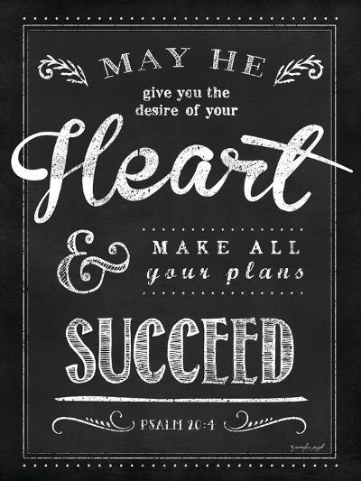 Chalkboard Psalm 20:4-Jennifer Pugh-Art Print