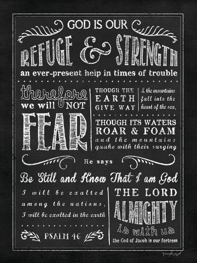 Chalkboard Psalm 46-Jennifer Pugh-Art Print