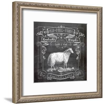 Chalkboard Sheep-Washburn Lynnea-Framed Art Print