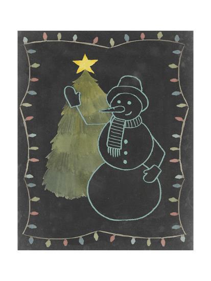 Chalkboard Snowman I-Grace Popp-Art Print