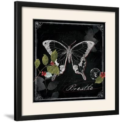 Chalkboard Wings I-Katie Pertiet-Framed Photographic Print