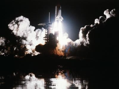 Challenger Liftoff 1983--Photographic Print