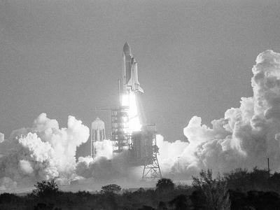 Challenger Liftoff 1984-Glenda Dixon-Photographic Print