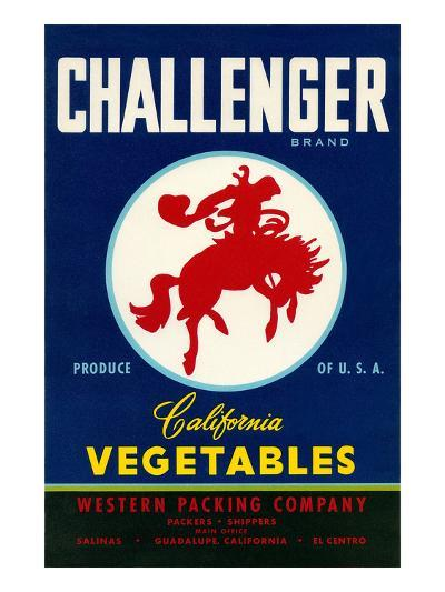 Challenger Packing Crate Label, Bronco--Art Print