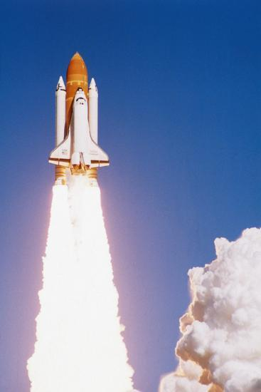 Challenger Space Shuttle Lifting Off--Photographic Print