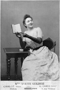 Yvette Guilbert (1867-1944) 1891 by Chalot