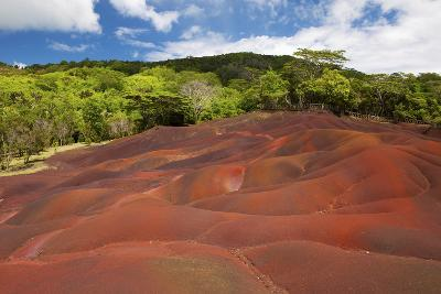 Chamarel Coloured Earth, Chamarel, Savanne, Mauritius, Indian Ocean, Africa-Jordan Banks-Photographic Print