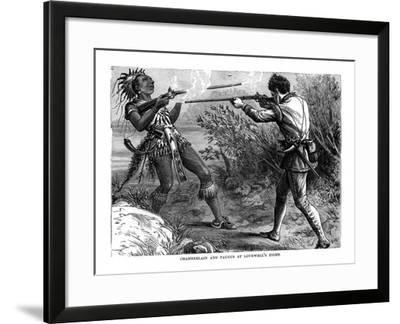 Chamberlain and Paugus at Lovewell's Fight, 1725--Framed Giclee Print