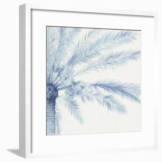 Chambray Palms II-Megan Meagher-Framed Art Print